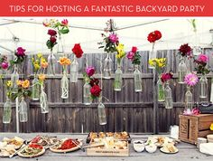 Sure, anybody can have a few friends over and throw some burgers on the grill. But today we're here to show you how to take your backyard BBQ to the next level. And don't worry, our tips won't break the bank! 1. Consider sending out invitations... people are more apt to attend. This mason jar themed design from Perfect Pear Designs is a great option. [Photo: Perfect Pear Designs] 2. Or go for an Evite to save some cash. This patriotic one would be perfect for a 4th of July party, but they…