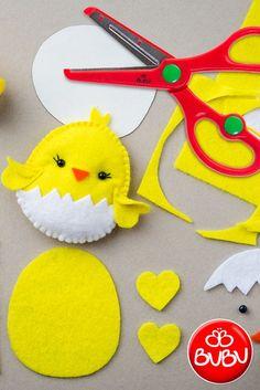 Easy DIY Felt Crafts, Felt Crafts Patterns and Felt Craft Tutorial Pdf. Easy Felt Crafts, Easter Crafts For Kids, Felt Diy, Crafts With Felt, Easter Decor, Felt Crafts Patterns, Fabric Crafts, Diy Niños Manualidades, Felt Decorations