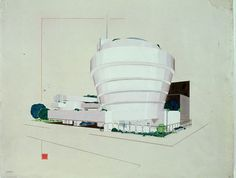 Early #design of Frank L. Wright #Guggenheim #museum in #NYC - A white version - close to the original #architecture