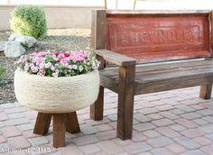 Tire Planter Upcycle - Repurposed Tire DIY #gardening