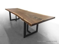 TRIBECA DINING TABLE Live edge custom furniture and architectural elements made from reclaimed wood and fallen trees by Fallen Industry. Fallen Industry is a home and office design studio based in NYC Brooklyn. Created by New York sculptor and designer Paul Kruger.
