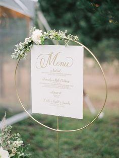 Menu ideas for a creative wedding reception idea