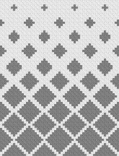 Ravelry: Fading Diamonds Blanket pattern by Jessica Z # 2 color crochet blanket pattern Fading Diamonds Blanket Filet Crochet, Crochet Stitches, Knit Crochet, C2c Crochet Blanket, Graph Crochet, Knitting Charts, Knitting Patterns, Corner To Corner Crochet, Tapestry Crochet Patterns