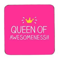 Happy Jackson Coaster Queen Of Awesomeness  #gifts #cheap #birthday #cool #gift #shopping #sale #mzube #presents #quirky   https://www.mzube.co.uk