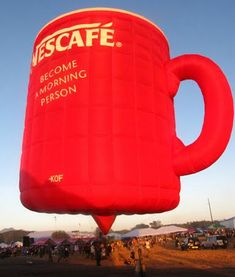 Nescafe Mug Hot Air Balloon Cool balloon form 14th Philippine International Hot Air Balloon Fiesta on Clark, Pampanga