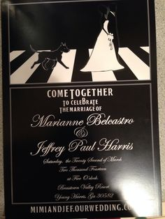 Her wedding invitations would look something like this.