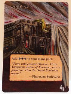 MTG Magic DARK RITUAL Urza's Saga Hand Painted Altered Art Card OOAK #WizardsoftheCoast
