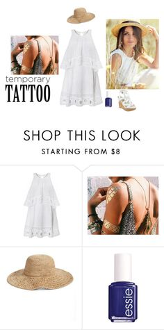"""Untitled #363"" by varsha-ram ❤ liked on Polyvore featuring beauty, Nordstrom, Essie, GUESS and temporarytattoo"