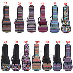 21 23 26 Soft Pad Cotton Folk Style Hand Portable Bag Case Cover for Ukulele