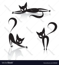Black cat icon silhouette collection animal set sketch kitty logo isolated on white. Download a Free Preview or High Quality Adobe Illustrator Ai, EPS, PDF and High Resolution JPEG versions.