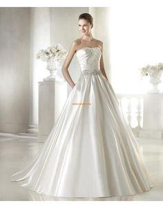 Duchesse-Linie Elegant & Luxuriös Reißverschluss Brautkleider 2015