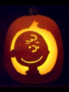 Charlie Brown Carved Pumpkin