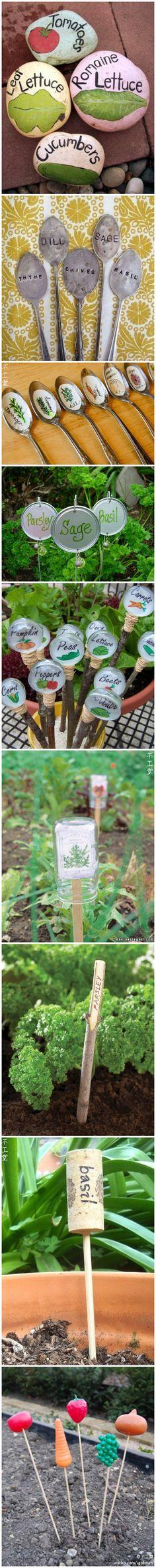 Cute garden markers.