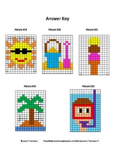 Mystery Picture Graphs - Summer Pack - This is a set of 5 mystery ...