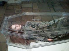 glass coffin