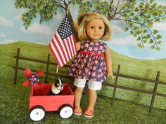 """American Girl doll clothes summer outfit for American Girl doll or similar 18"""" doll clothes"""