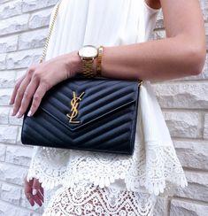 6a2b42c511f Saint Laurent Bag Unboxing & Review - YSL Matelassé Chain Wallet