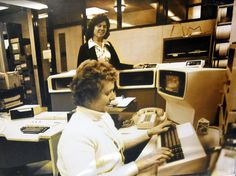 Moraine Park's staff work in the data processing area in the 1970's.