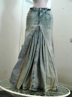 Bohemian mermaid ballroom jean skirt Renaissance by bohemienneivy