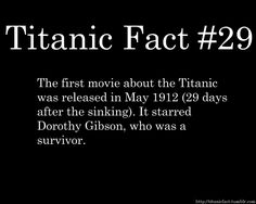 Titanic Facts #29...uhh who would want to relive that?