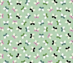 © Fifi Mandirac. Butterflies pattern. Estampado con mariposas.