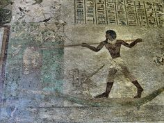 Felsengräber von Beni Hassan tomb of Khnumhotep Ancient Art, Ancient Egypt, Enemy Of The State, North Africa, Past, Egyptian Artwork, Wall Art, History, Antiques