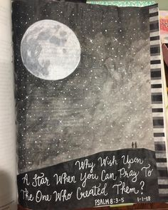 """37 Likes, 2 Comments - Stacy Harned (@rdh2974) on Instagram: """"Psalms 8:3-5 """"When I look at the night sky and see the work of your fingers— the moon and the stars…"""""""