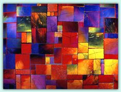 Fuse Art Glass made to look like a quilt.