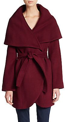 $205, Marla Wool Wrap Coat by Elie Tahari. Sold by Off 5th. Click for more info: http://lookastic.com/women/shop_items/156204/redirect