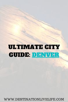 A compilation of all of my favorite places in Denver! Including where to eat, drink, catch a game, things to do, etc. via @destinationlivelife