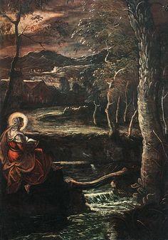 Tintoretto. Scuola grande di San Rocco. Sala terrena. María meditando sobre el futuro