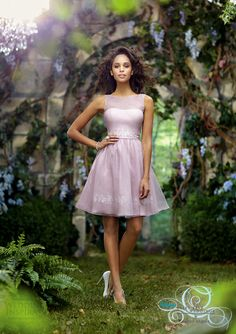 Disney Fairy Tale Weddings by Alfred Angelo bridesmaids 2014 : pink #bridesmaid short dress style 522 #wedding