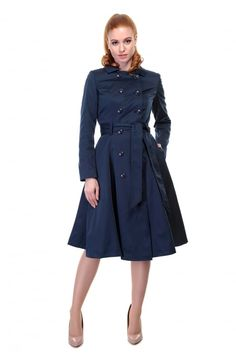 Collectif Vintage Korrina Swing Trench