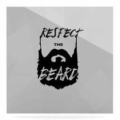 "East Urban Home Beard 'Respect the Beard' Textual Art on Metal Size: 10"" H x 10"" W x 1"" D"