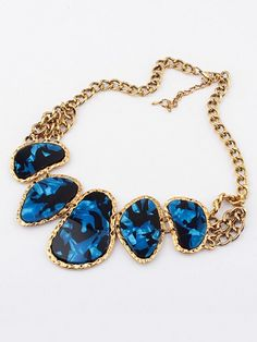 5ccbcdf7eb608 Occident Retro Hyperbolic Colored stones New Stylish Hot Sale Necklace -  Jewelry - Accessories - Hebeos Online