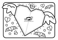 children activities, more than 2000 coloring pages Valentine Crafts For Kids, Valentines, Spring Theme, Craft Club, Classroom Crafts, Origami Art, Winter Art, Art Lesson Plans, Elementary Art