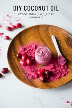 DIY Cranberry Lip Gloss