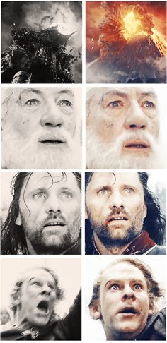 That slight change in expression when they realize that Frodo and Sam are in there.