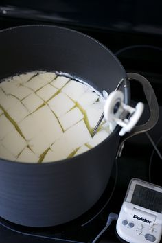 Homemade Mozzarella Cheese Recipe is part of pizza - If you love cheese, homemade mozzarella that you have stretched and shaped yourself is something quite special It has a fresh, milky taste that is unbeatable Mozarella Cheese Recipe, Recipes With Mozzarella Cheese, Cotija Cheese, Cheese Recipes, Cooking Recipes, Easy Cheese, How To Make Cheese, Cooking Cheese, Homemade Cheese