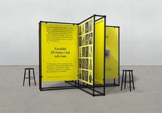 Freestanding panels educating museum