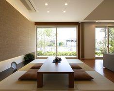 タタミコーナー 吊押入れ|注文住宅のアキュラホーム Japan Interior, Japanese Interior Design, Japanese Home Decor, Japanese Modern, Japanese House, Japanese Living Rooms, Tatami Room, Zen Room, Dining Room Design