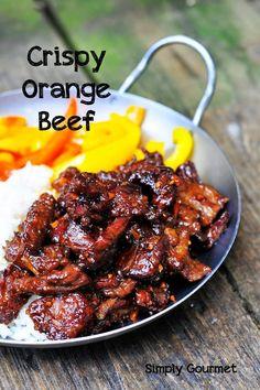 Simply Gourmet: Crispy Orange Beef simply-gourmet.com #beeffoodrecipes