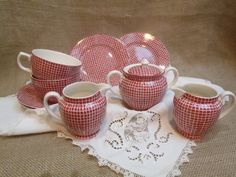 Vintage Montrose China Tea/ Coffee Set  so sweet Love the country pattern