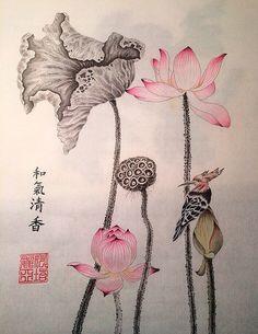 Изучаем технику китайской живописи стиля Гунби на серии онлайн мастер-классов Марии Маевской - учимся рисовать сине-зеленый пейзаж в старинном стиле.