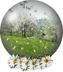 Little Nice Things, Amazing Art, Snow Globes, Christmas Bulbs, Easter, Glitter, Animation, Holiday Decor, Flowers
