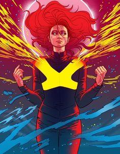 X-Men: Dark Phoenix - Jean Grey - Sophie Turner by Paulina Ganucheau * Dark Phoenix, Phoenix Marvel, Jean Grey Phoenix, Phoenix Art, Phoenix Makeup, Phoenix Quotes, Phoenix Drawing, X Men Comics, Marvel Comics