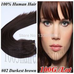 """40cm-66cm 16""""18""""20""""22""""24""""26"""" Machine Weft Hair Straight 100G Per Lot  Length 150cm Width Free Shipping #02Darkest brown In Stock  //Price: $US $31.52 & FREE Shipping //     #fashion #women #wig #wigs #hair #blond #darkhair #beauty #style Real Hair Extensions, Hair Stores, Womens Wigs, Hair Weft, Wigs For Black Women, Beauty Style, 100 Human Hair, Dark Hair, Straight Hairstyles"""