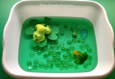 Mini Frog Pond Small World Sensory Bin
