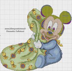 SCHEMI DISNEY A PUNTO CROCE: BABY MICKEY E TOPOLINO SCHEMA PUNTO CROCE