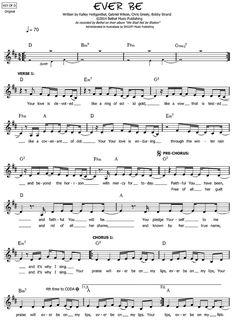 Ever Be   Bethel Music   We Will Not be Shaken   sheet music PDF – WorshipScores